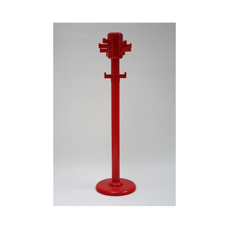 Red platic hallstand