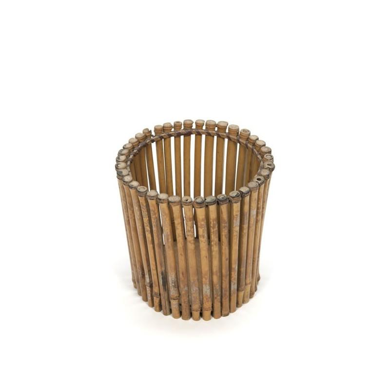 Bamboe kranten-/ prullenbakje