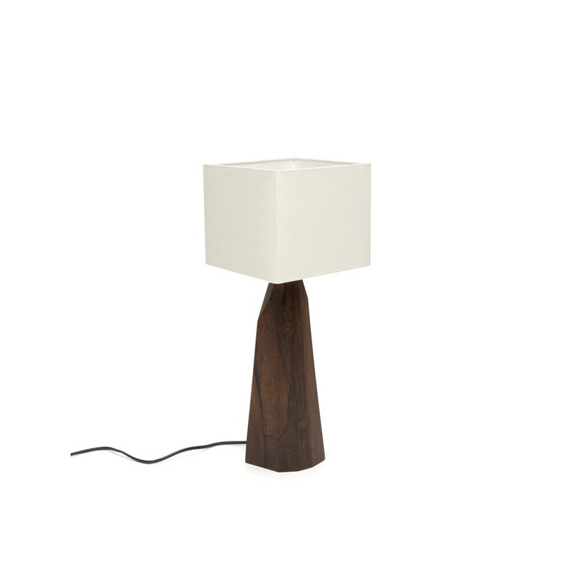 Tafellamp van Palissanderhout