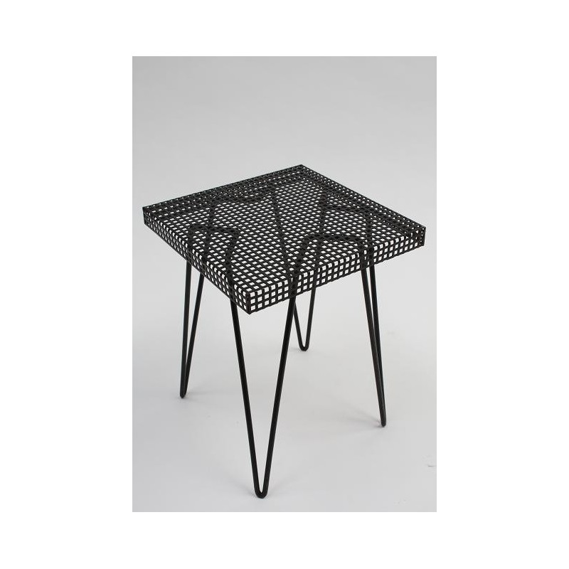 Metal side table black