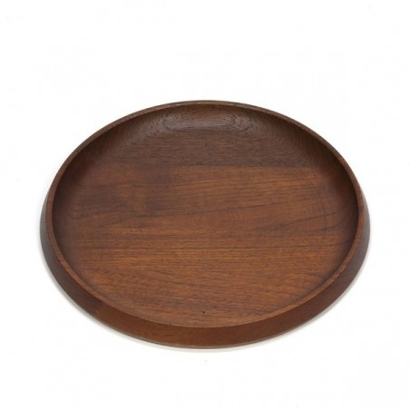 Low plate of teak round