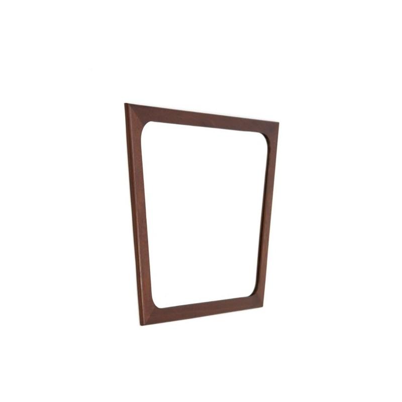 Mirror with edge of teak
