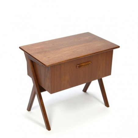 Small cabinet with large drawer in teak