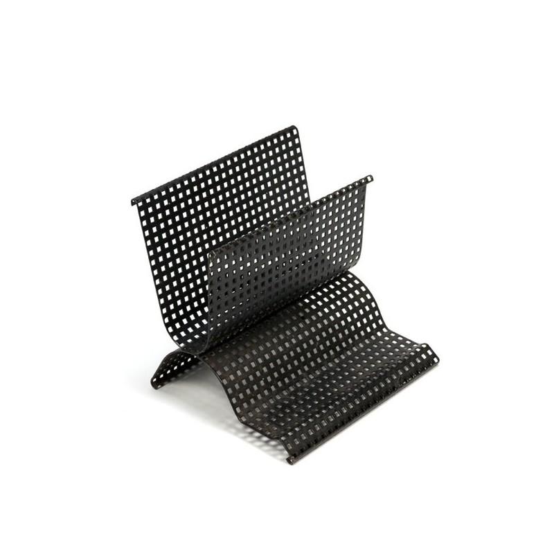 Black perforated letter holder