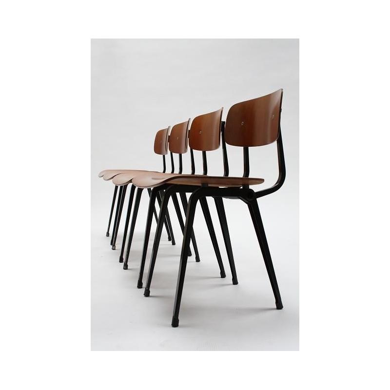 Friso kramer revolt stoel set van 4 retro studio for Revolt stoel