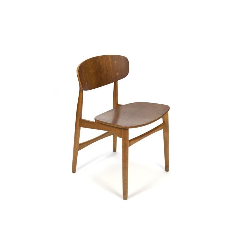 Deense design stoel in eiken en teak