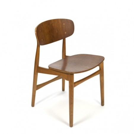 Danish design chair in oak and teak