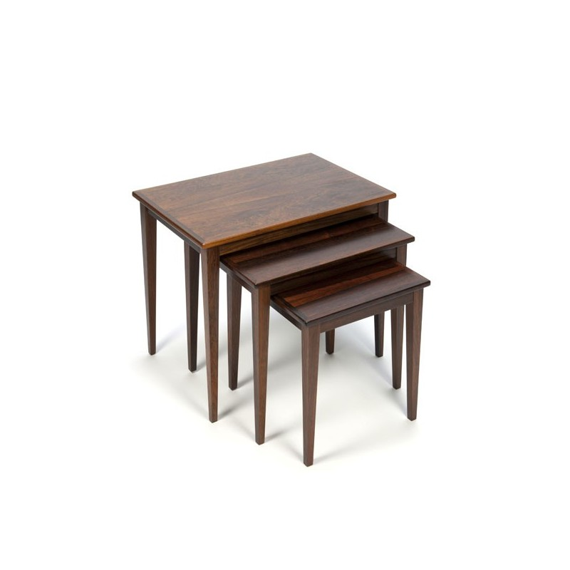 Set rosewood nesting tables