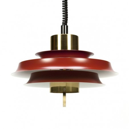 Red brass discs lamp