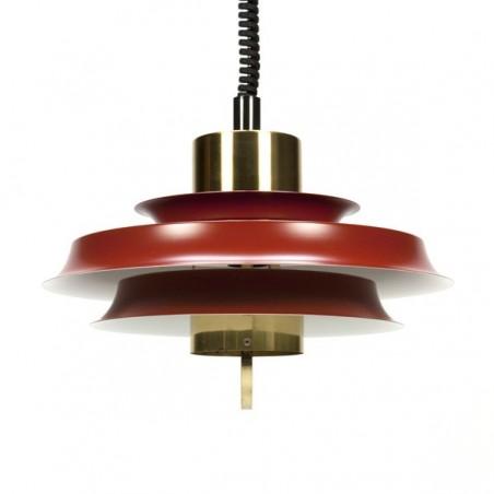 Rood koperen schijven lamp