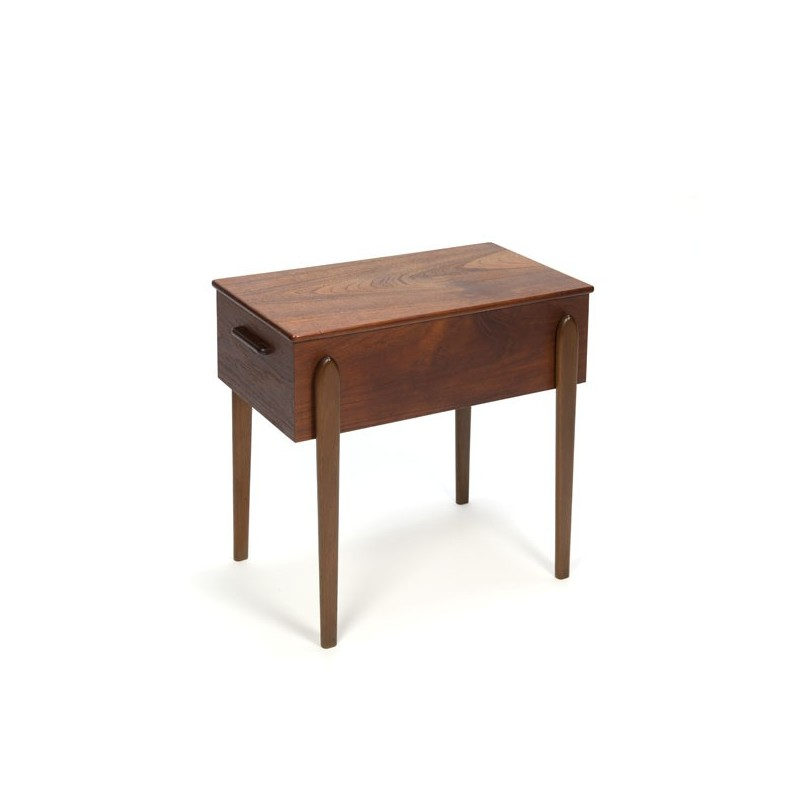 Small teak side table/ sewing cabinet