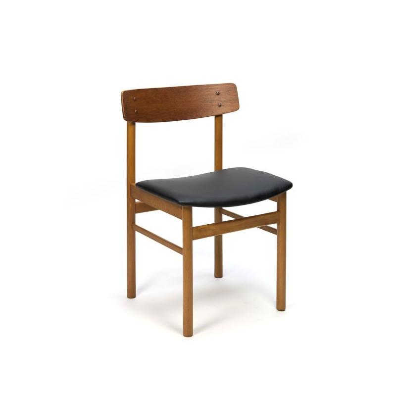6 Design Stoelen.Set Van 6 Deense Design Stoelen Met Rugleuning In Teak