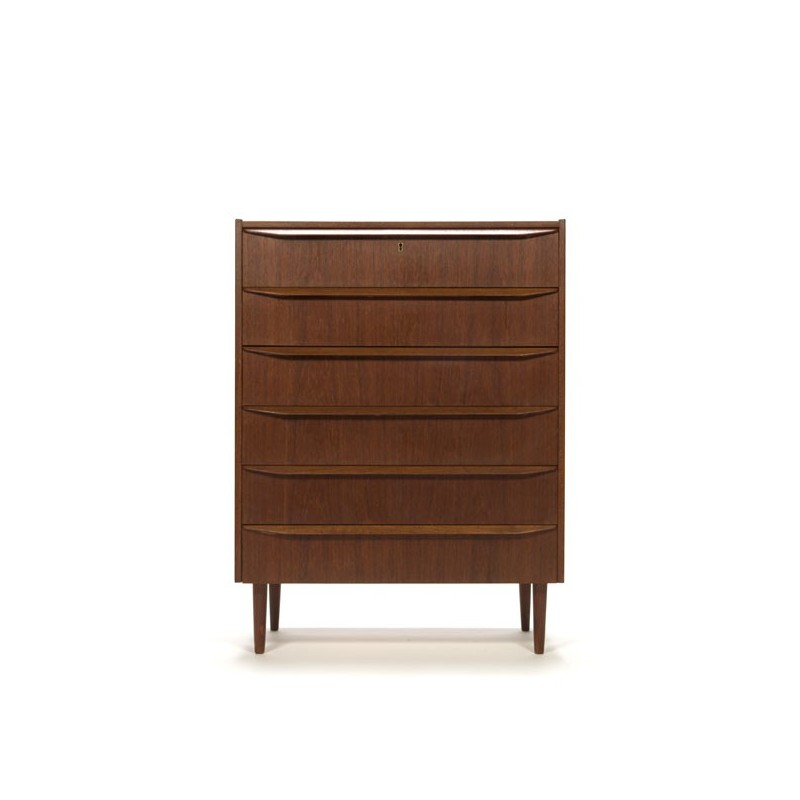 Dresser with 6 drawers in teak