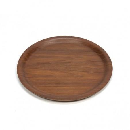 Teak tray round model