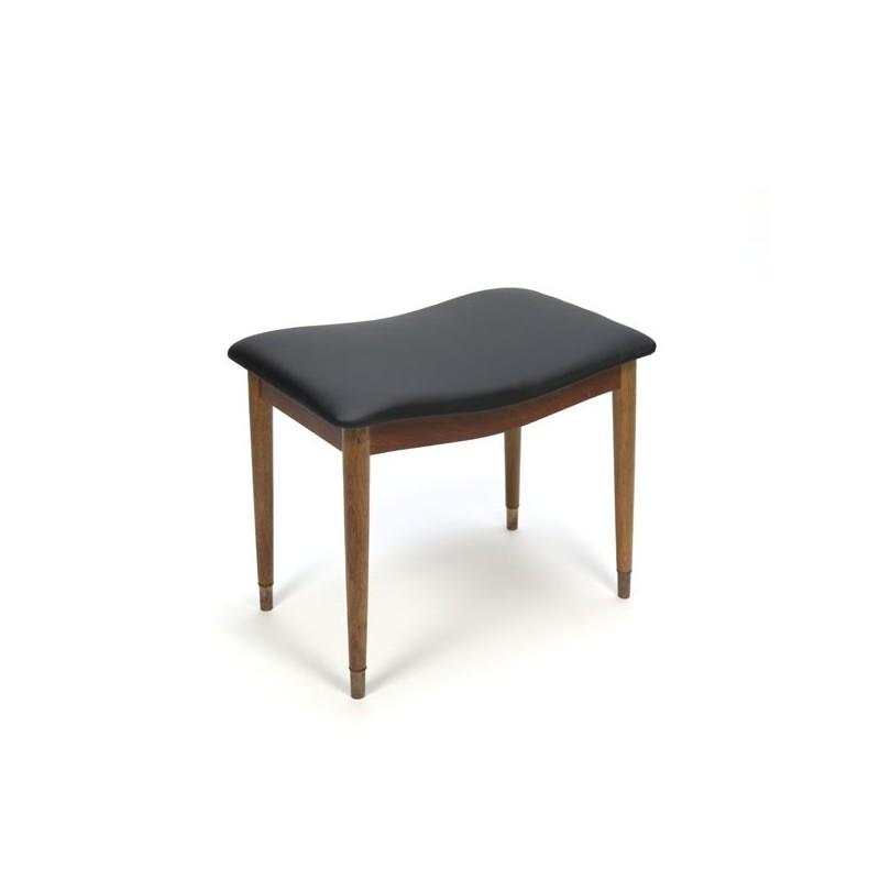 Danish stool/ ottoman with brass feet