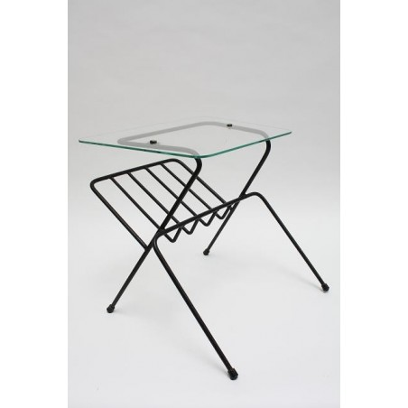 Side table with magazine rack 1950's