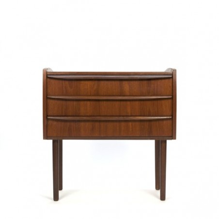 Small chest of drawers in teak high leg