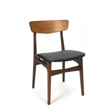 Danish chair with brass detail