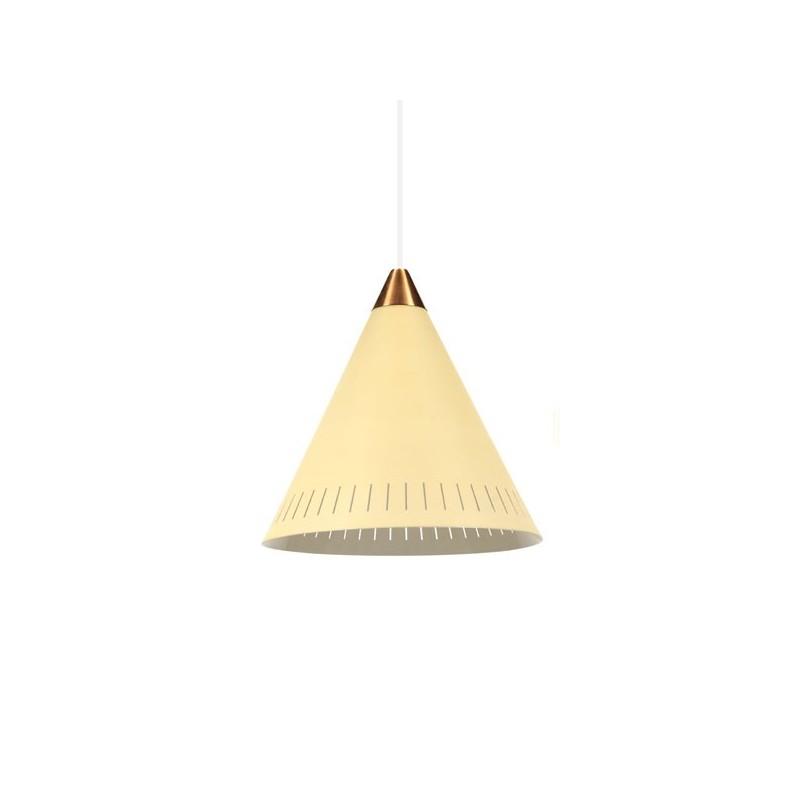 Gele hanglamp uit de 1950's