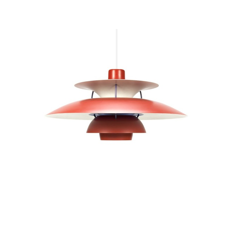 PH 5 design of Poul Henningsen red