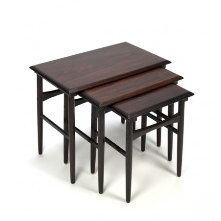 Nesting tables set of 3 in rosewood
