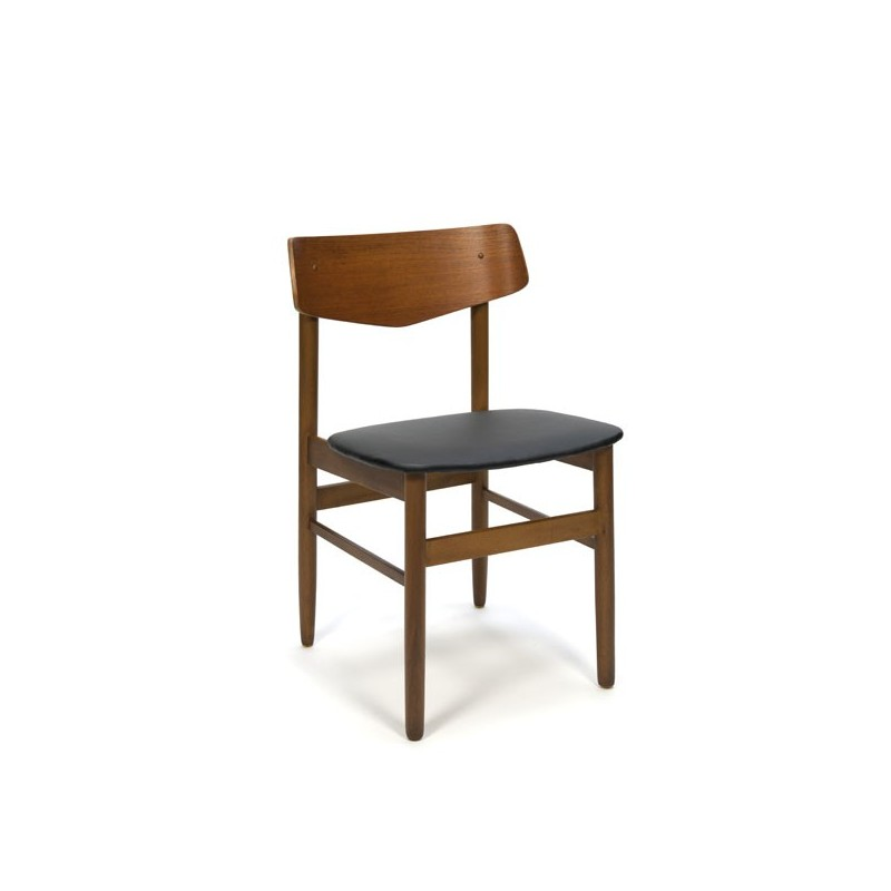 Teak chair with plywood back