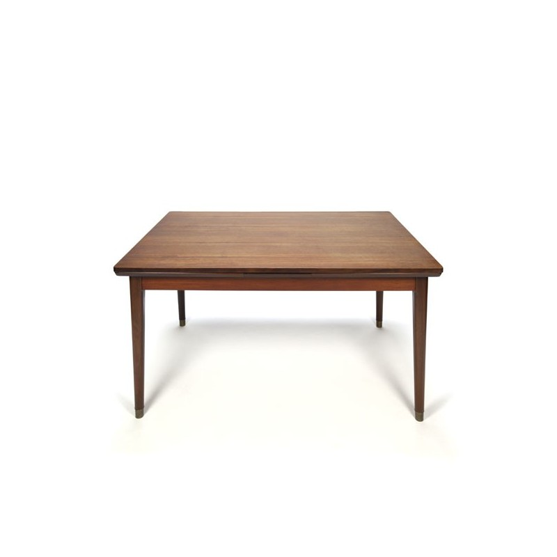 Danish design dining table on brass feet