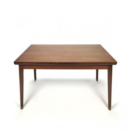 Danish design dining table on brass feet