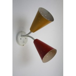 Wall lamp from the 1950's yellow/ red