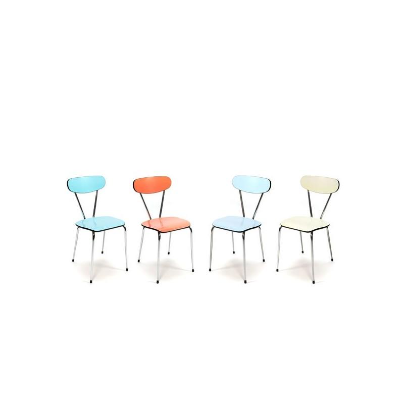 Formica set stoelen 1950s