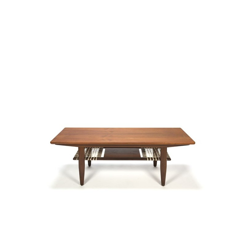 Vintage Danish design coffee table in teak