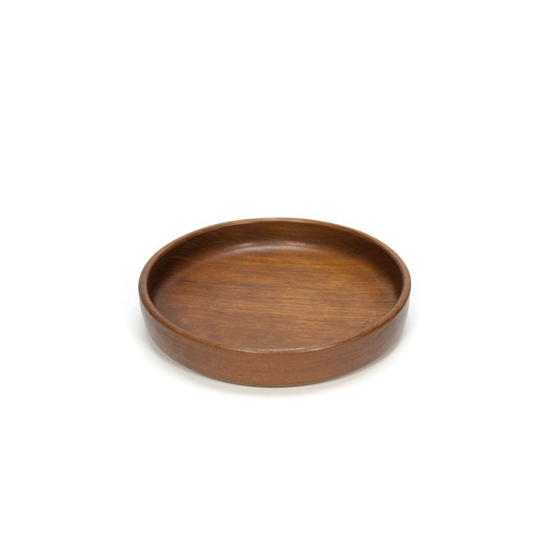 Large low bowl of teak