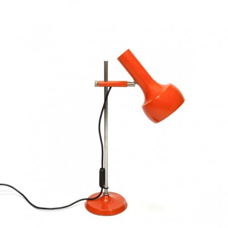 Tafel-/ bureaulamp uit de 1970s oranje