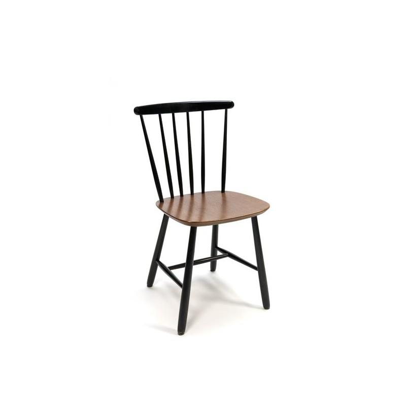 Bars chair black/ teak
