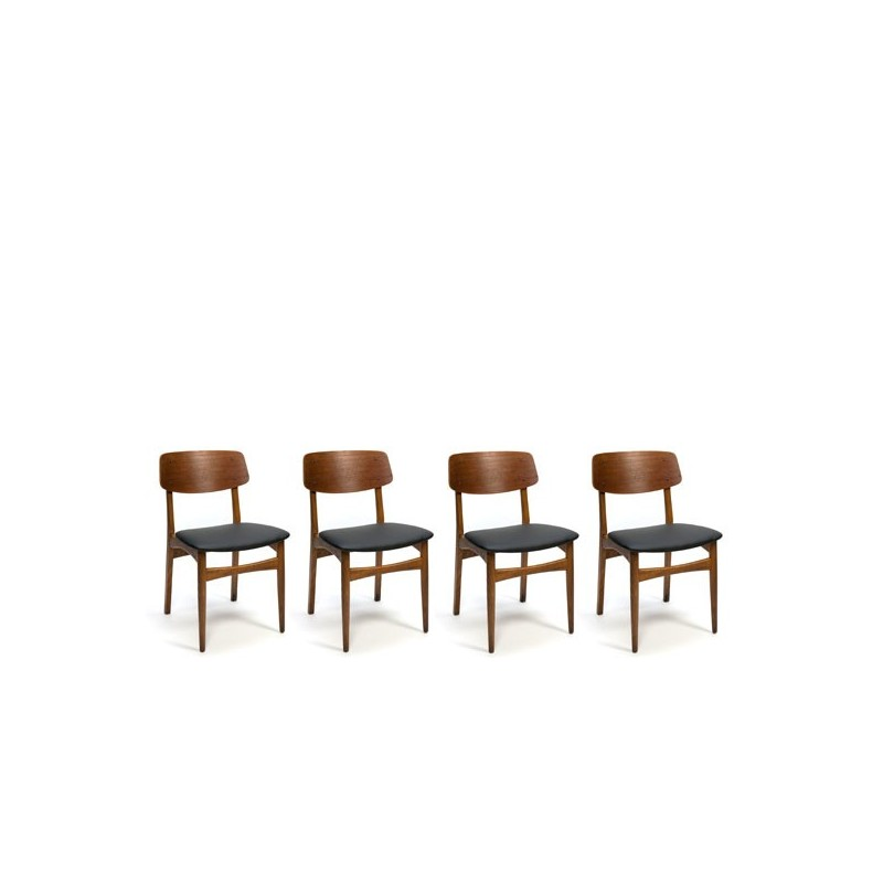 Set Danish dining chairs