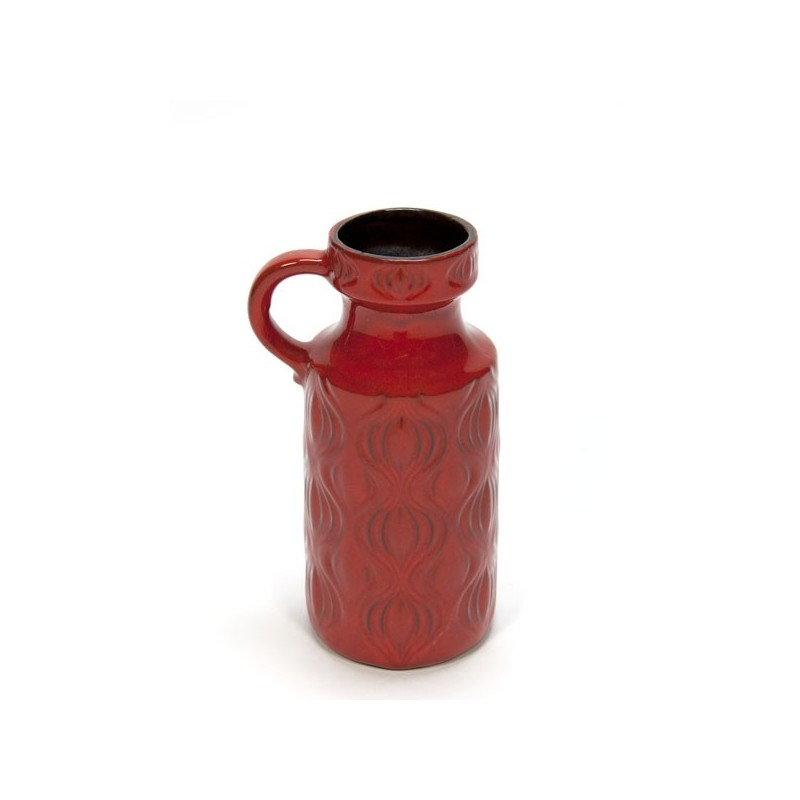 Red West Germany vase
