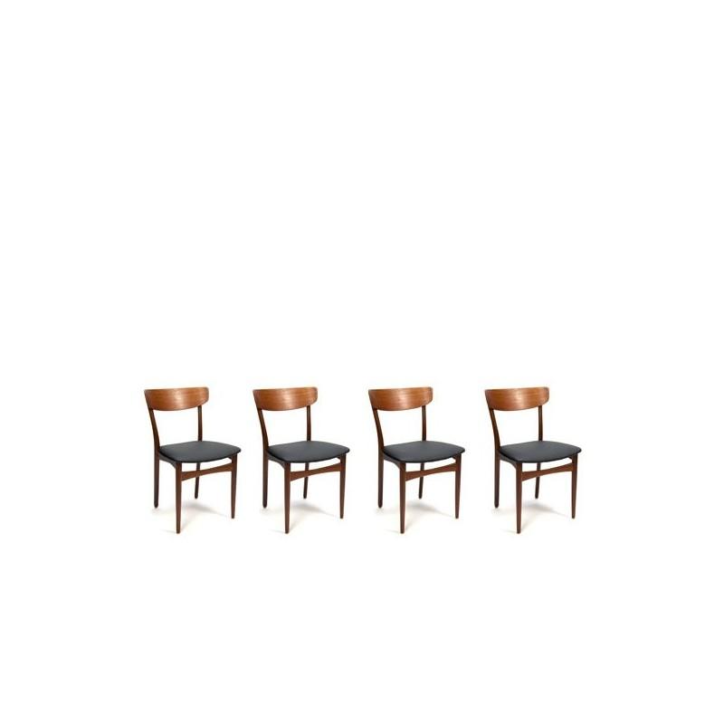 Teakhouten eettafel stoelen set van 4