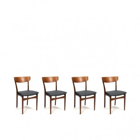 Teak dining table chairs set of 4
