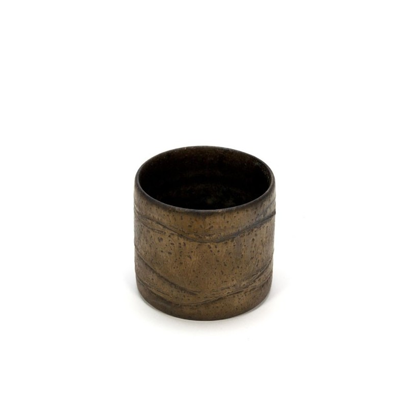 Gold-colored flowerpot by Mobach small model