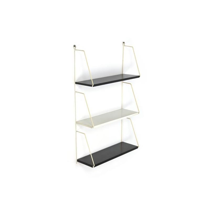 Klein metalen wandsysteem/ boekenrekje