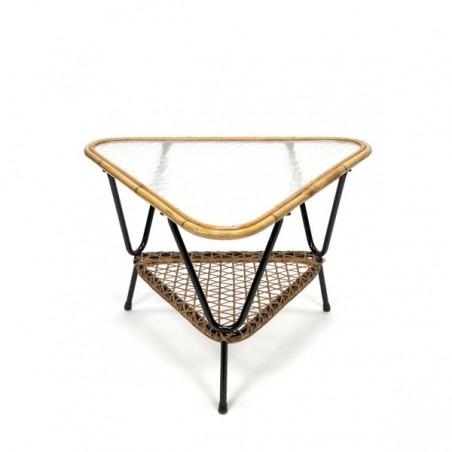 Wicker triangle coffee table