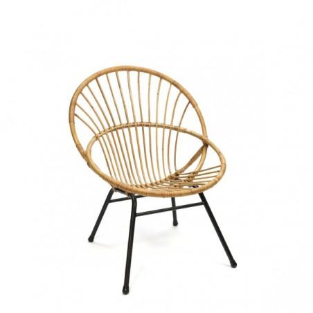 Rotan zitstoel uit de sixties