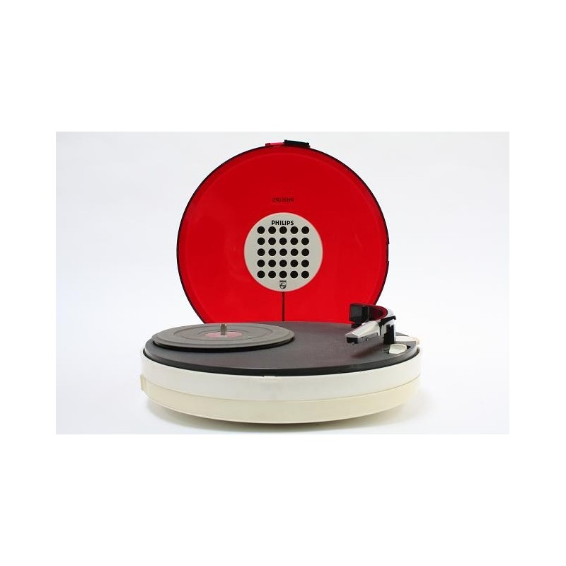 Philips record player red