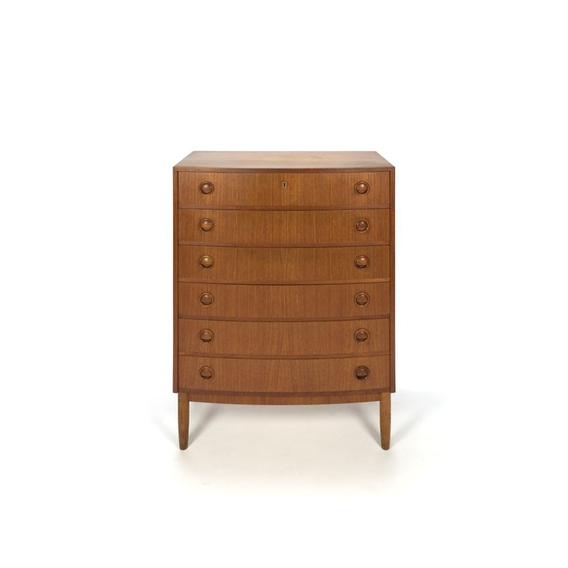 Danish chest of drawers with round front