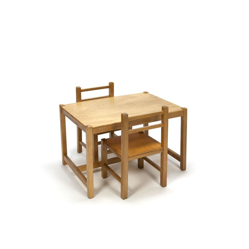 Children's set in wood from the 1960s