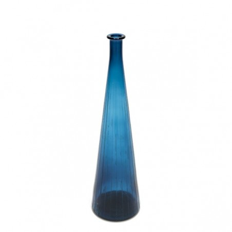 Large glass vase blue