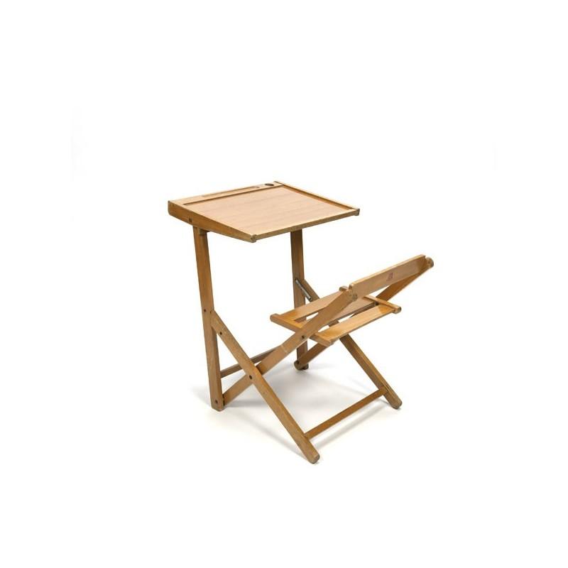 Klein opklapbaar bureau voor kinderen