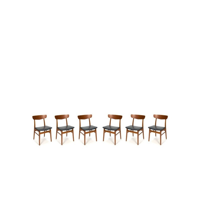 Deense set van 6 Farstrup stoelen