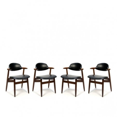 Cow horn chairs set of 4