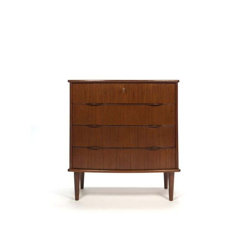 Danish dresser with 4 drawers in teak